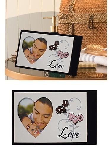 Kitchen Love Ahşap  Fotoğraf Çerçevesı-Dış-23X13/Foto-9X9 Kahve